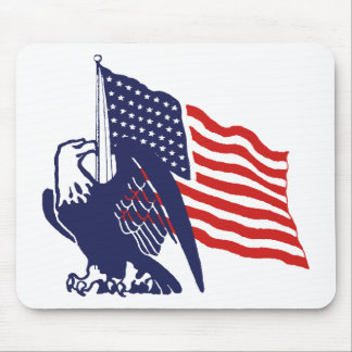 American Flag and Bald Eagle Mouse Pad