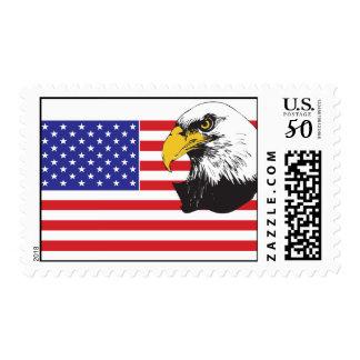 American Flag and Bald Eagle Postage