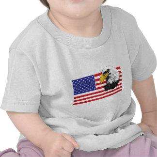 American Flag and Bald Eagle T-shirt