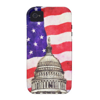 American Flag And Capitol Building Case For The iPhone 4