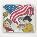 American Flag and Children mousepad