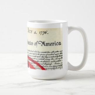American flag and Declaration Of Independence Coffee Mug