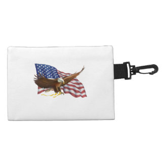 American Flag and Eagle Accessories Bag