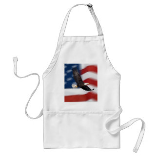 American flag and eagle adult apron