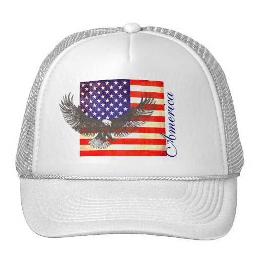 American flag and eagle americania hat