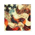 American Flag and Eagle Canvas Print