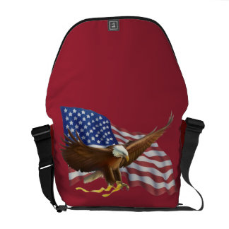 American Flag and Eagle Courier Bags