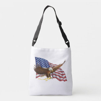 American Flag and Eagle Crossbody Bag