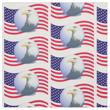 American Flag And Eagle Fabric