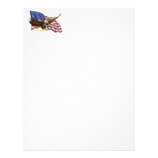 American Flag and Eagle Letterhead