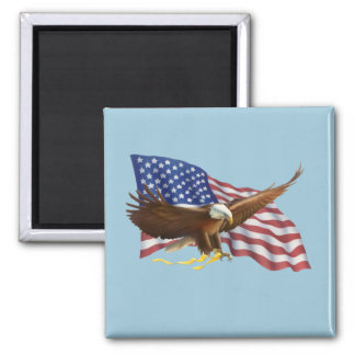 American Flag and Eagle Magnet