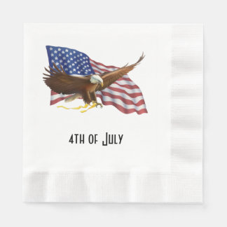 American Flag and Eagle Paper Napkin