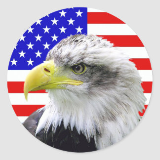 American Flag And Eagle Patriotic Stickers