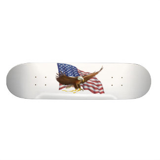 American Flag and Eagle Skateboard