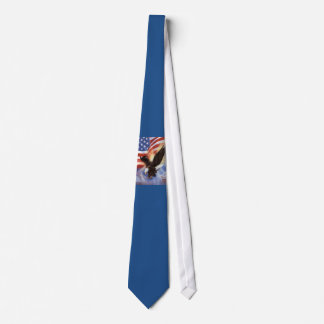 American Flag And Eagle Tie