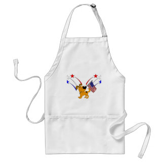 American Flag and Fireworks Adult Apron