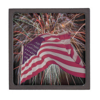 American Flag and Fireworks Gift Box