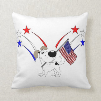American Flag and Fireworks Pillows