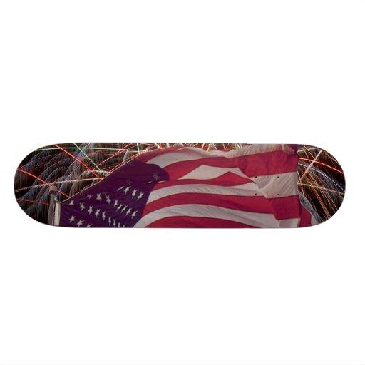 American Flag and Fireworks Skateboards