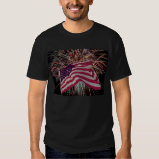 American Flag and Fireworks Tshirt