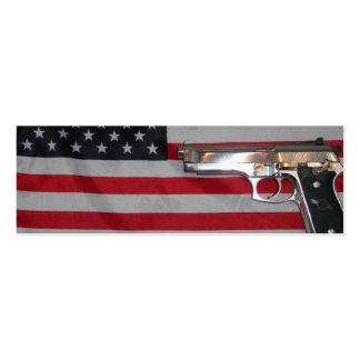 American Flag and Gun Bookmark Business Card Templates