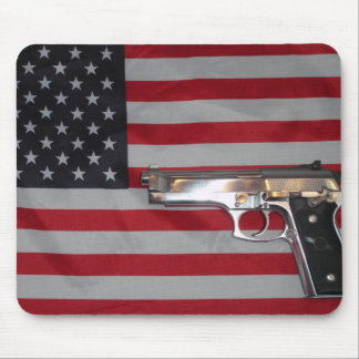 American Flag and Gun Mousepad