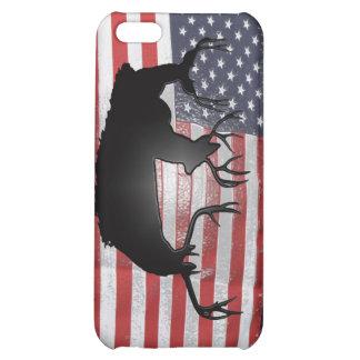 American flag and mule deer iPhone 5C covers
