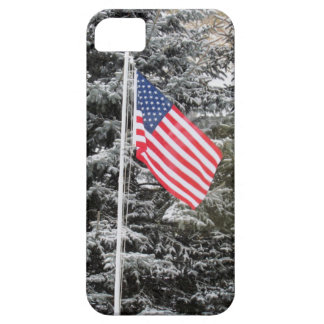 American flag and pine tree iPhone 5 case