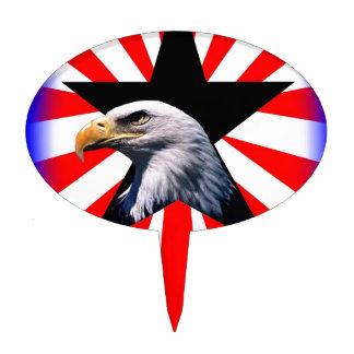 american flag and the Bald eagle Cake Pick