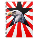 american flag and the Bald eagle Notebook