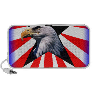 american flag and the Bald eagle Travelling Speakers
