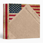 American Flag and the Declaration Binder