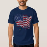American Flag and US Country Outline Tee Shirts