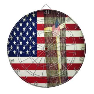 American Flag and Yellow Ribbon Dartboard