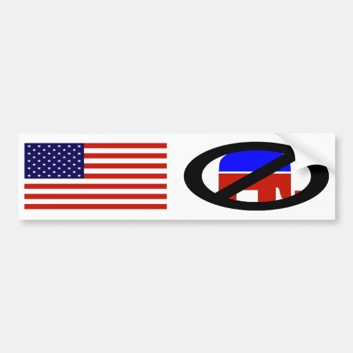 American Flag Anti-Republican bumper sticker Car Bumper Sticker