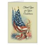 American Flag Appreciation Condolence Thank You