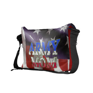 American Flag Army Mom Courier Bag