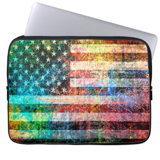 American Flag Art Grunge #3 Laptop Sleeve