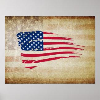 AMERICAN FLAG ART POSTER