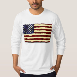 American Flag Artistic Grunge T Shirt