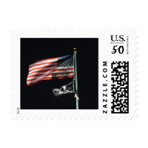 American Flag At Night Postage