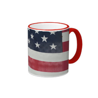 American Flag At The Sussex County Fair Ringer Coffee Mug