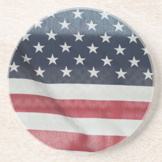 American Flag At The Sussex County Fair Sandstone Coaster