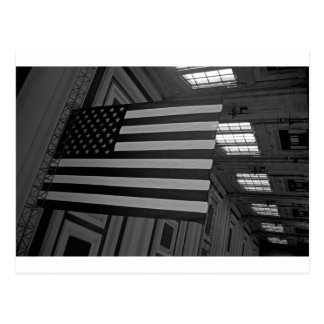 American Flag at Union Station Postcard
