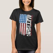 american flag autism T-Shirt