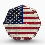 "American Flag Award<br><div class=""desc"">Show your patriotism with this distressed American Flag design.</div>"