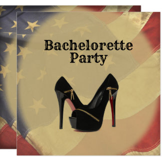 American Flag Bachelorette Party Card