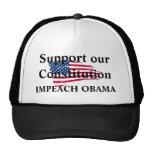 American_flag_background, apoya nuestro Constitut… Gorros Bordados
