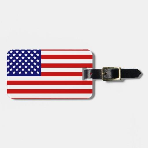 American flag bag tag