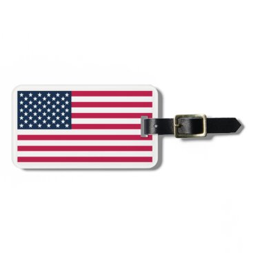USA Themed American-Flag Bag Tag